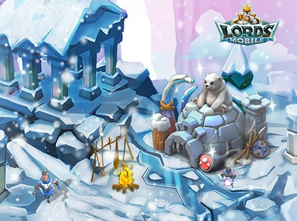 Lords Mobile New Castle Skin - Arctic Base