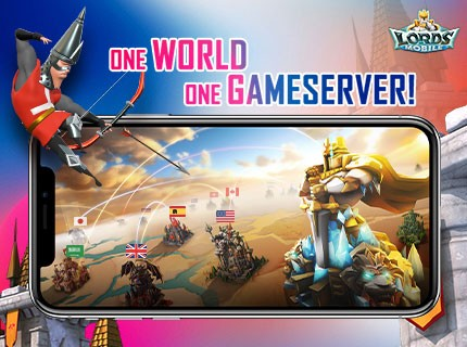 Join Lords Mobile's #OneWorldOneGameserver campaign and win an iPhoneX!