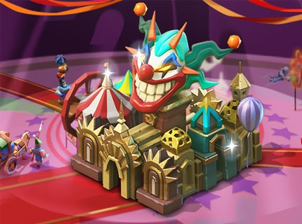 Lords Mobile New Castle Skin: Cirque du Sourire