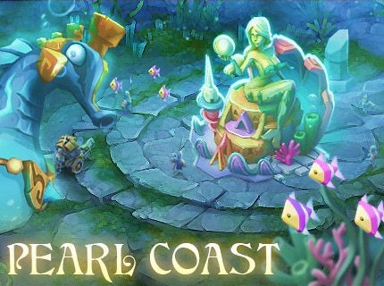 Lords Mobile New Castle Skin - Pearl Coast!