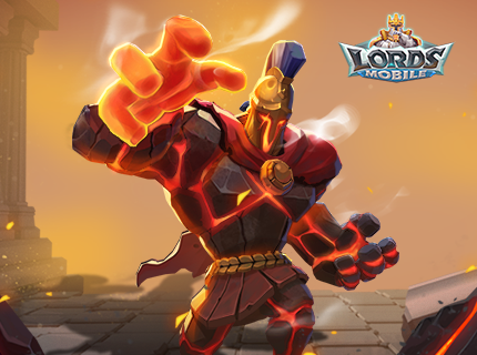 Lords Mobile New Hero - Vulcan the Magmaroid!