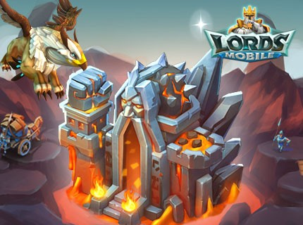 Lords Mobile New Castle Skin: Blazing Fortress