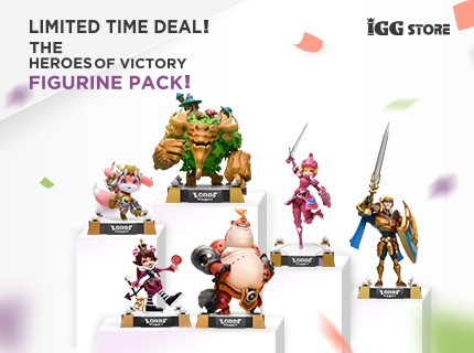 Limited time deal! The Heroes of Victory Figurine Pack at a 15% discount!