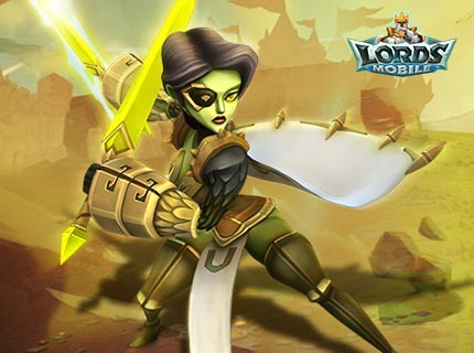 Lords Mobile New Hero - Joanna the Cursed Hunter!