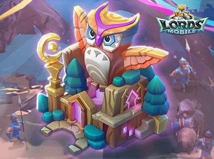 Lords Mobile New Castle Skin - Owl Outpost